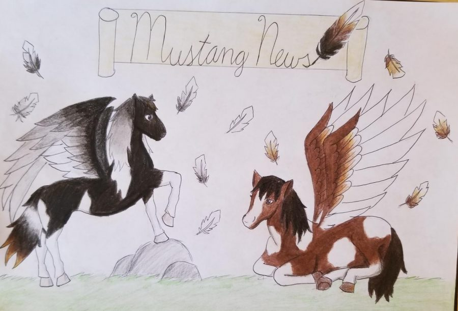 Winged Mustangs by Selina Tang