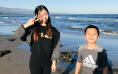 Linda and her brother enjoy family day at the beach in Santa Barbara
