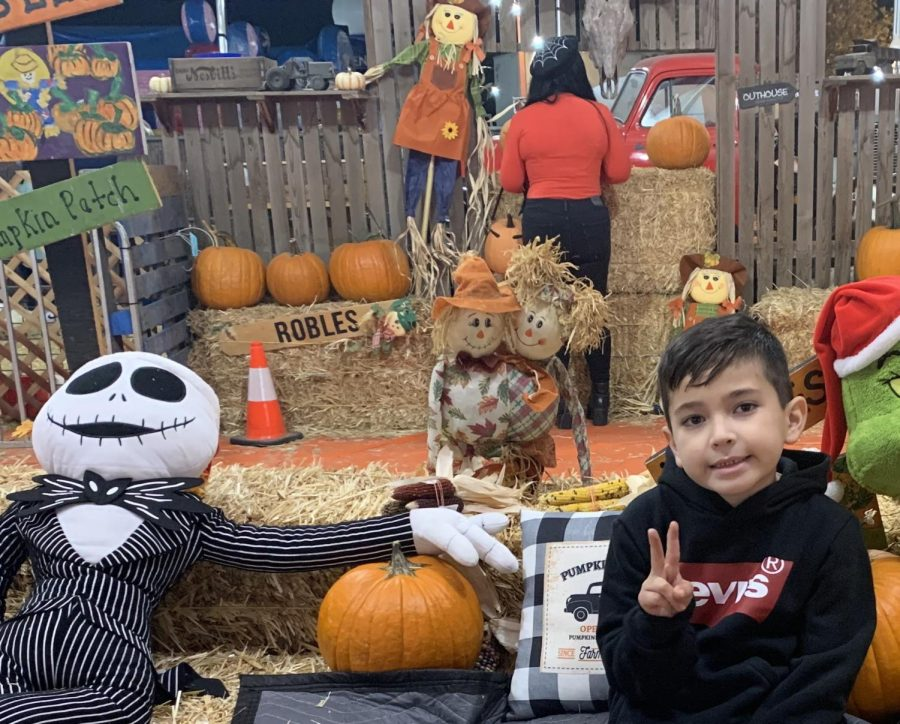 Family time at the Pumpkin Patch